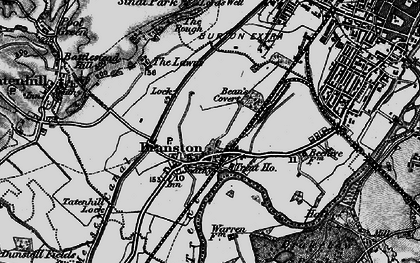 Old map of Branston in 1898
