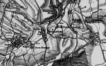 Old map of Lings Hill in 1899