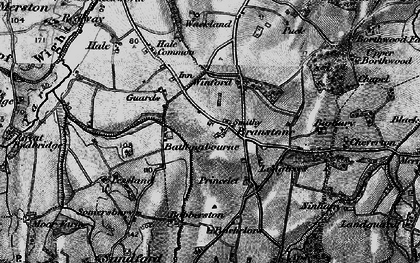 Old map of Branstone in 1895