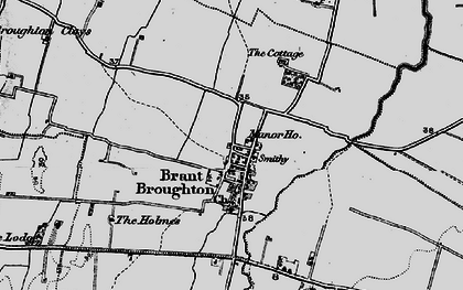 Old map of Brant Broughton in 1899