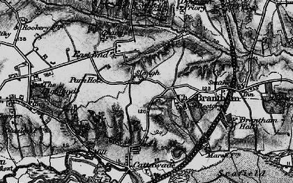 Old map of Brantham in 1896