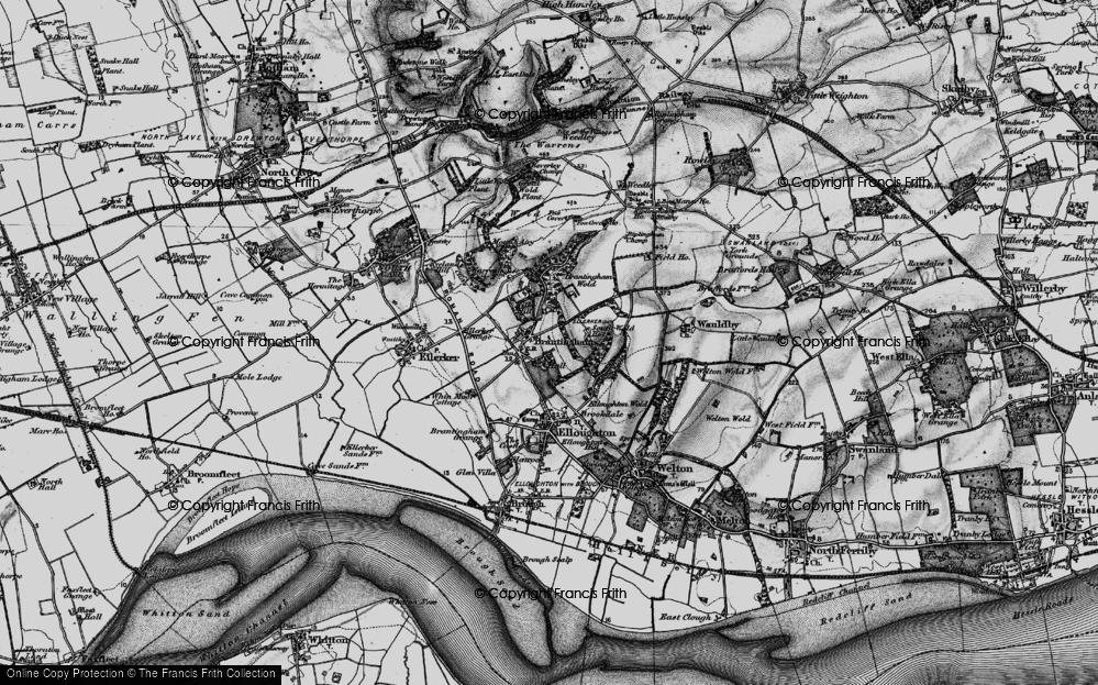 Old Map of Brantingham, 1895 in 1895