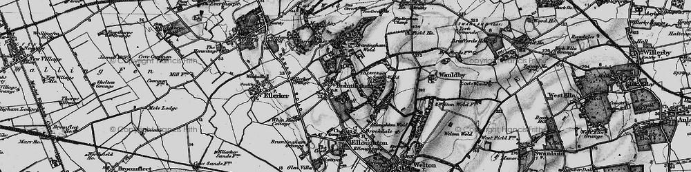 Old map of Brantingham in 1895