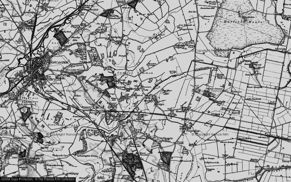 Old Map of Branton, 1895 in 1895