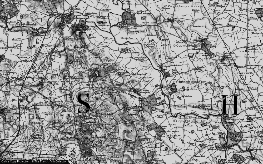 Old Map of Historic Map covering Lightmire Field in 1898