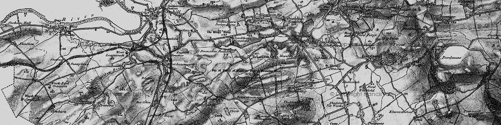 Old map of Branxton in 1897