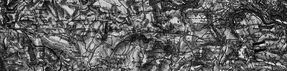 Old map of Brassington in 1897