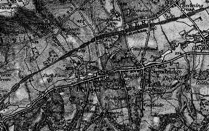 Old map of Brasted in 1895
