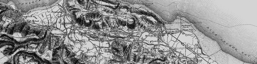 Old map of Bratton in 1898
