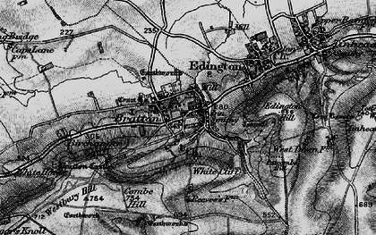 Old map of White Cliff in 1898