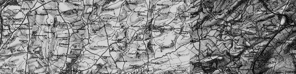 Old map of Wortham in 1895