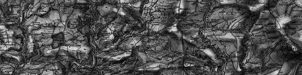 Old map of Bratton Fleming in 1898