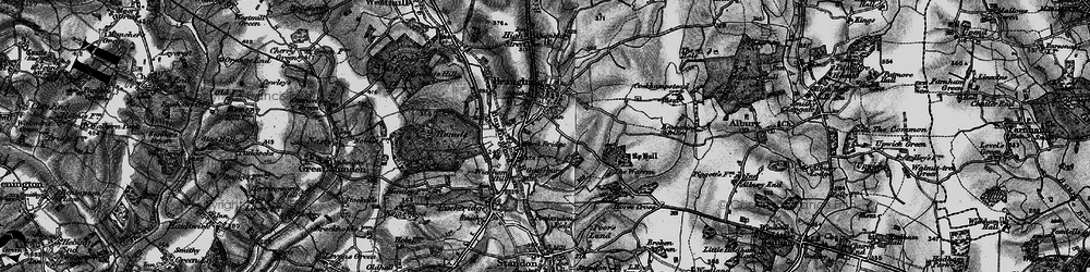 Old map of Braughing in 1896