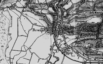 Old map of Braunton in 1897