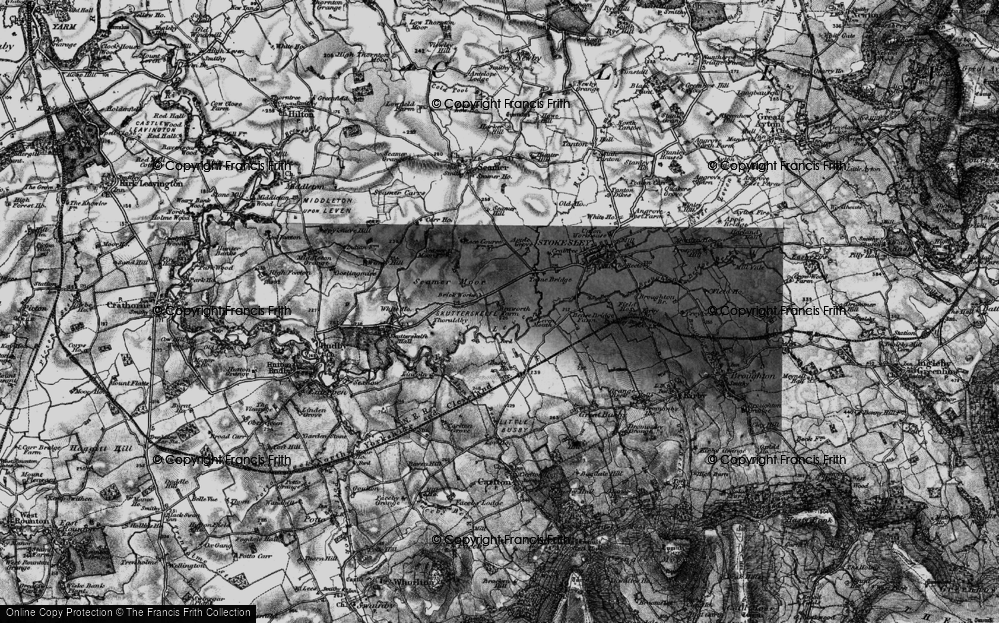 Old Map of Historic Map covering Leven Mouth in 1898