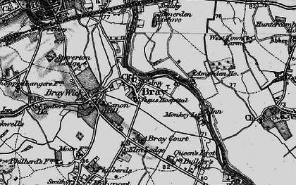 Old map of Bray in 1895