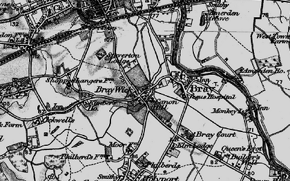 Old map of Bray Wick in 1895