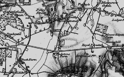 Old map of Braywoodside in 1895