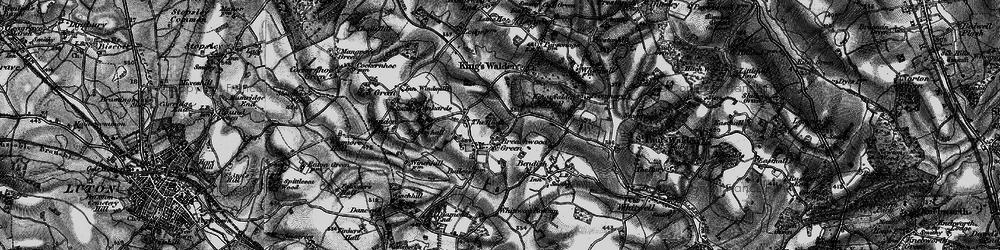 Old map of Breachwood Green in 1896
