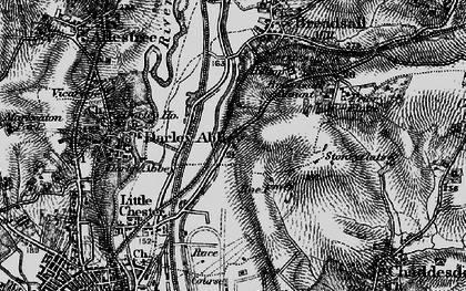 Old map of Breadsall Hilltop in 1895