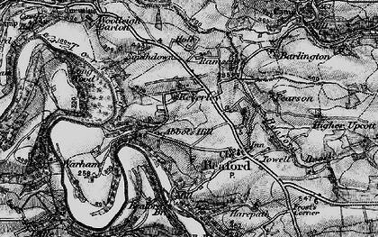 Old map of Woolleigh Barton in 1898