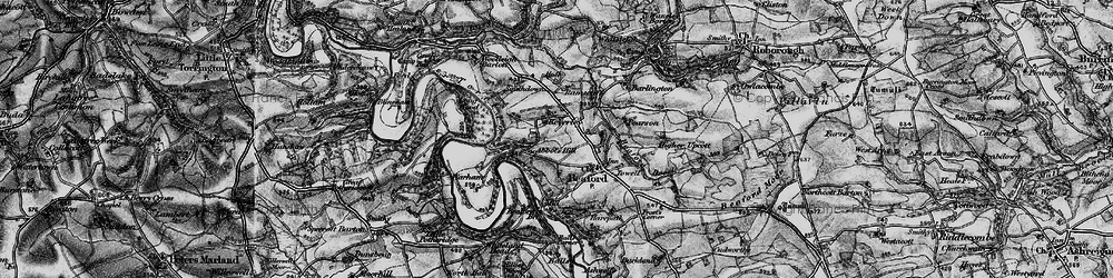Old map of Abbot's Hill in 1898