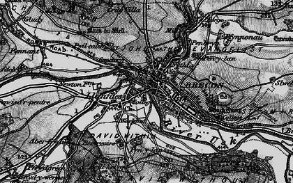 Old map of Brecon in 1898