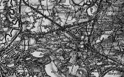 Old map of Bredbury in 1896