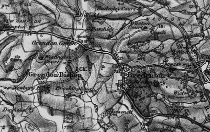 Old map of Bredenbury in 1899