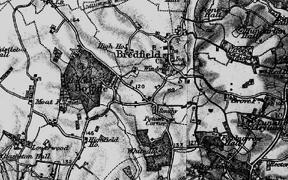 Old map of Bredfield in 1896
