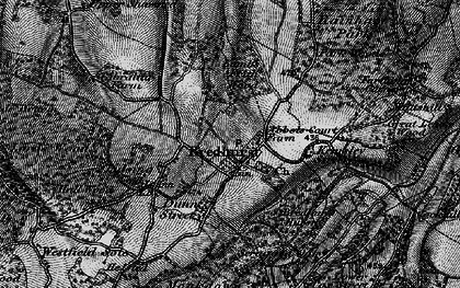 Old map of Bredhurst in 1895