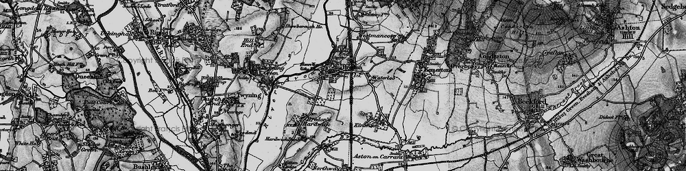 Old map of Bredon in 1898