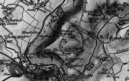 Old map of Bremhill in 1898
