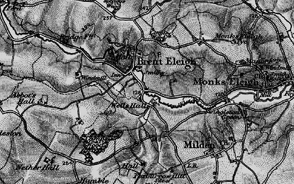 Old map of Brent Eleigh in 1896