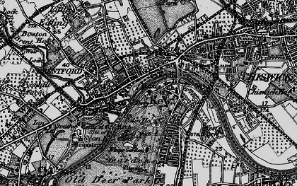 Old map of Brentford in 1896