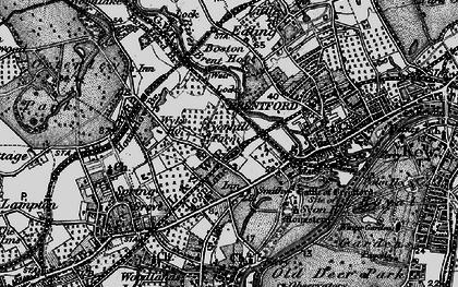 Old map of Brentford End in 1896