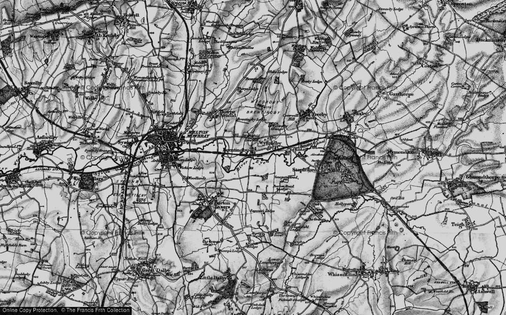 Old Map of Brentingby, 1899 in 1899