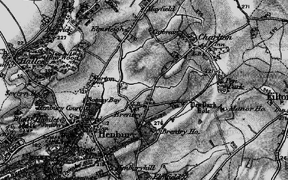 Old map of Brentry in 1898