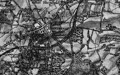 Old map of Brentwood in 1896