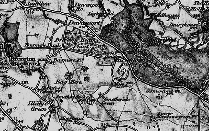 Old map of Brereton Heath in 1897