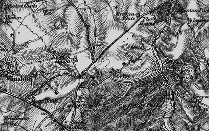 Old map of Bretby in 1895