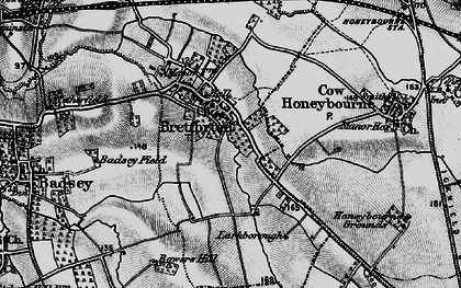 Old map of Badsey Field in 1898