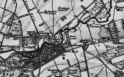 Old map of Langmere Boxes in 1898