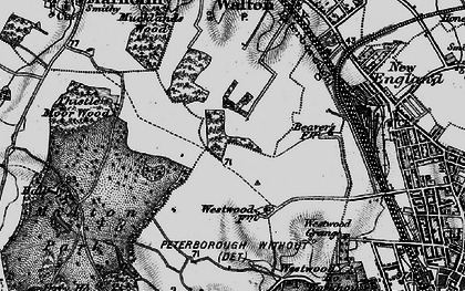 Old map of Bretton in 1898