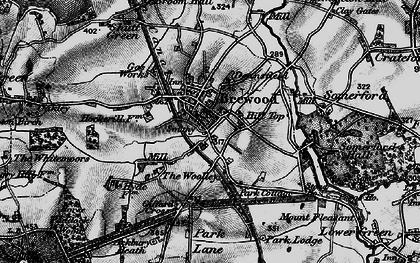 Old map of Brewood in 1897