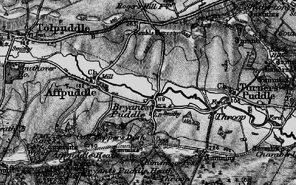 Old map of Ashley Barn in 1897