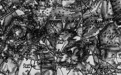 Old map of Westcroft Park in 1896