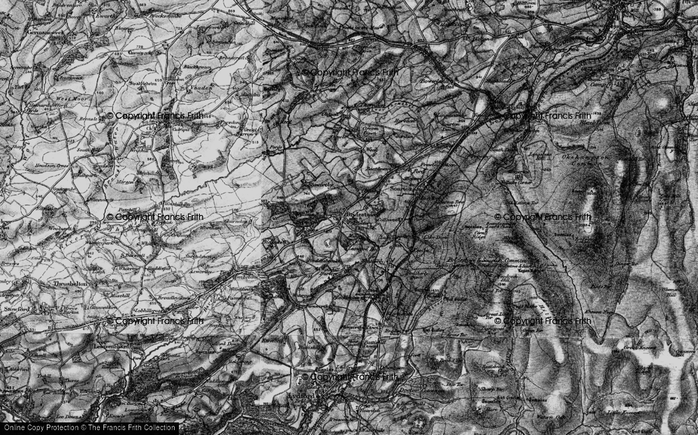 Old Map of Historic Map covering Leawood Ho in 1898