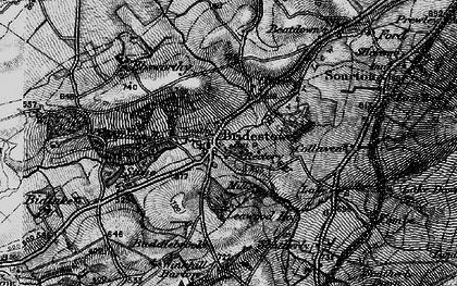 Old map of Bridestowe in 1898