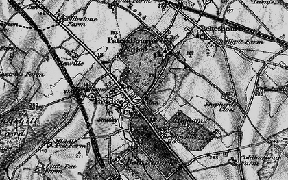 Old map of Barham Downs in 1895